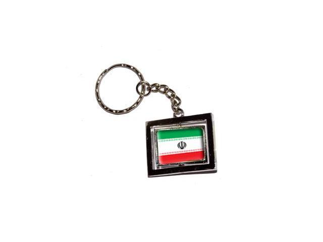 Iran Country Flag Keychain Key Chain Ring