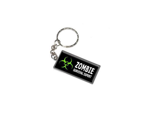 Zombie Survival Expert Keychain Key Chain Ring