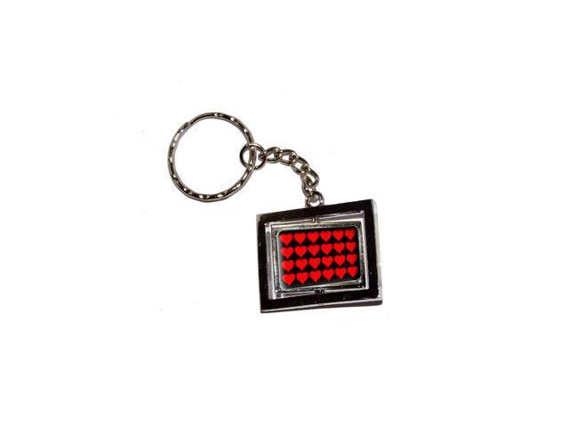 Red Hearts Keychain Key Chain Ring