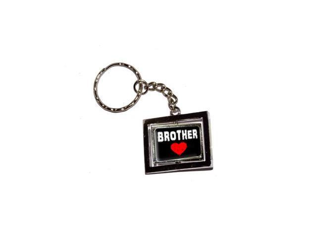 Brother Love - Red Heart Keychain Key Chain Ring