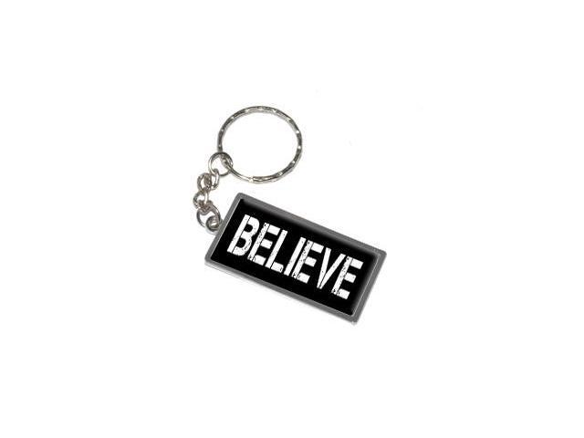Believe Keychain Key Chain Ring