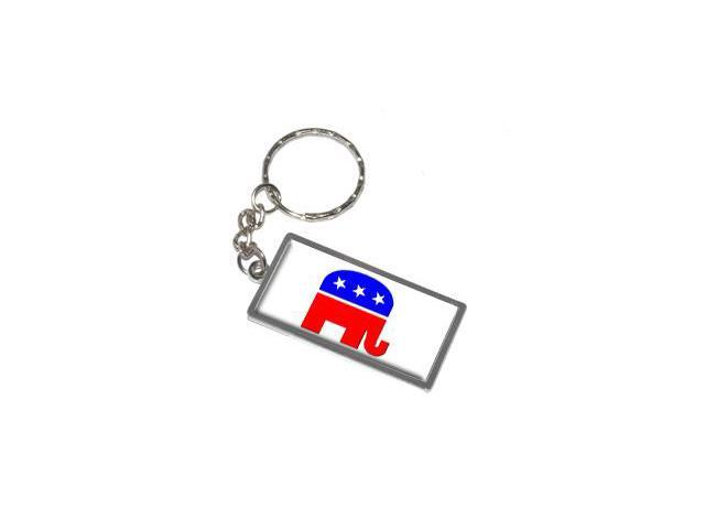 Republican Elephant Keychain Key Chain Ring