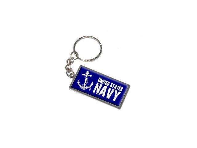 United States Navy - Anchor Keychain Key Chain Ring