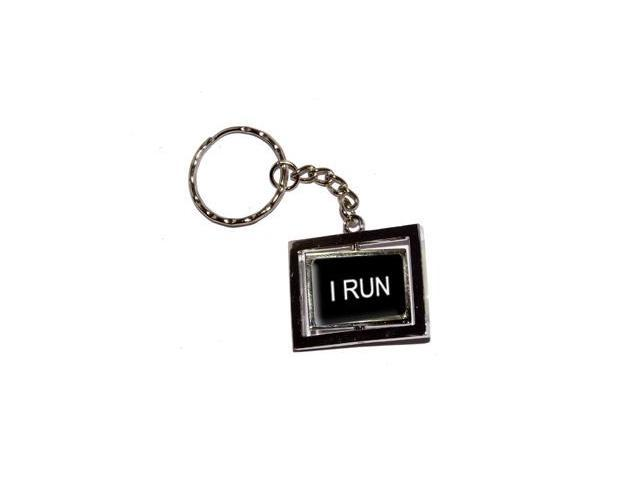 I Run Keychain Key Chain Ring