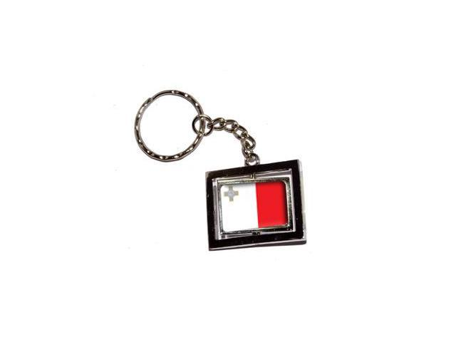 Malta Country Flag Keychain Key Chain Ring