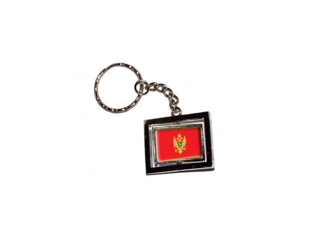 Montenegro Country Flag Keychain Key Chain Ring