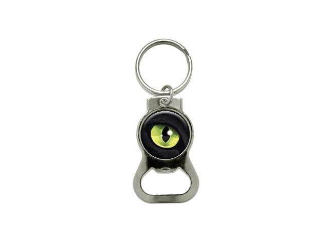 cat green eye bottle cap opener keychain ring. Black Bedroom Furniture Sets. Home Design Ideas
