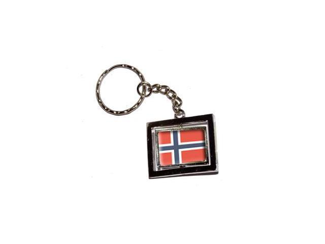 Norway Norwegian Country Flag Keychain Key Chain Ring