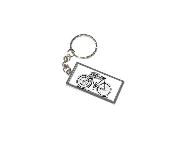Bicycle Old Fashioned Keychain Key Chain Ring