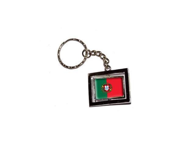 Portugal Country Flag Keychain Key Chain Ring