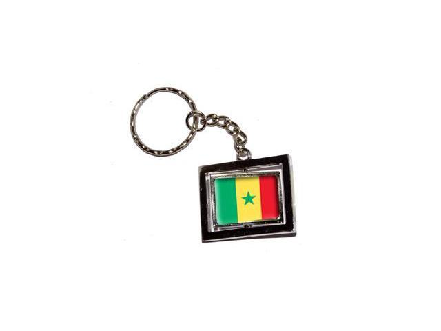 Senegal Country Flag Keychain Key Chain Ring