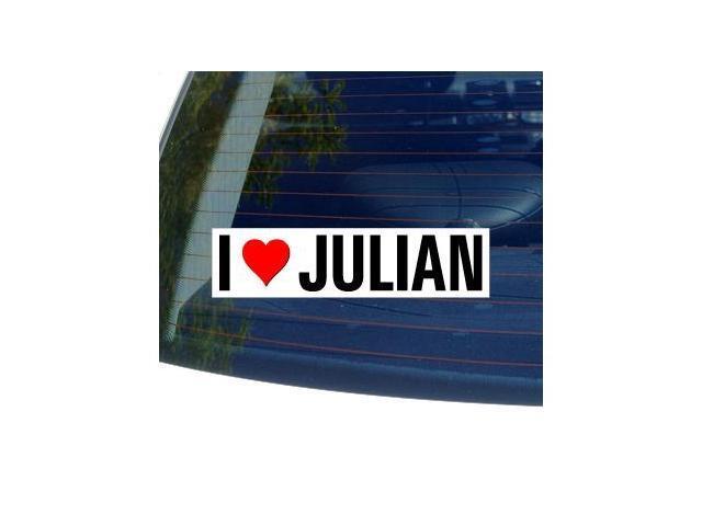 I Love Heart JULIAN Sticker - 8