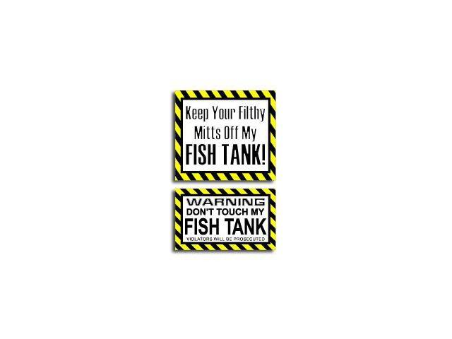 Hands Mitts Off FISH TANK - Sticker Set - 5
