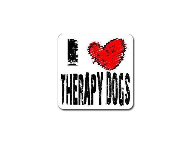 I Love Heart THERAPY DOGS Sticker - 5