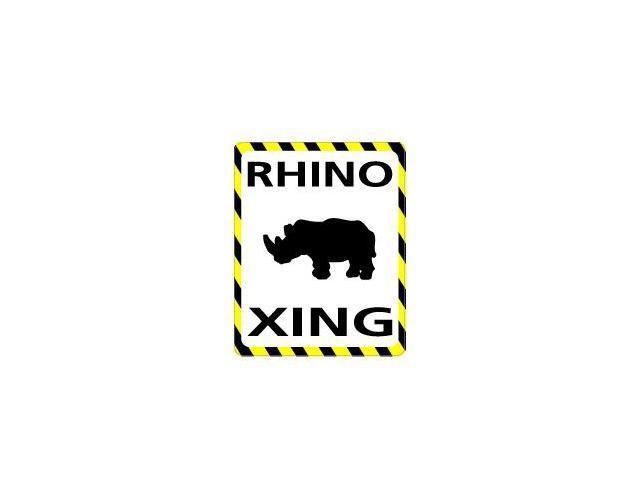 RHINO Crossing Sticker - 4