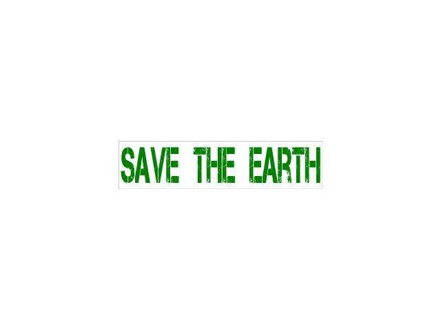 Save The Earth - Recycle Sticker - 8.5