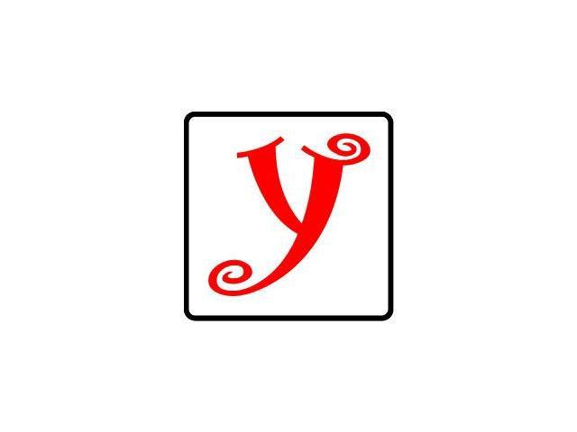 Letter Initial Y - Red Black Sticker - 4.5