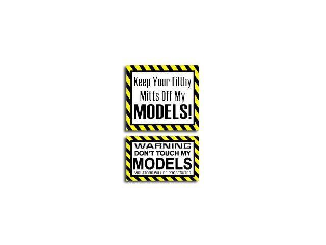 Hands Mitts Off MODELS - Sticker Set - 5