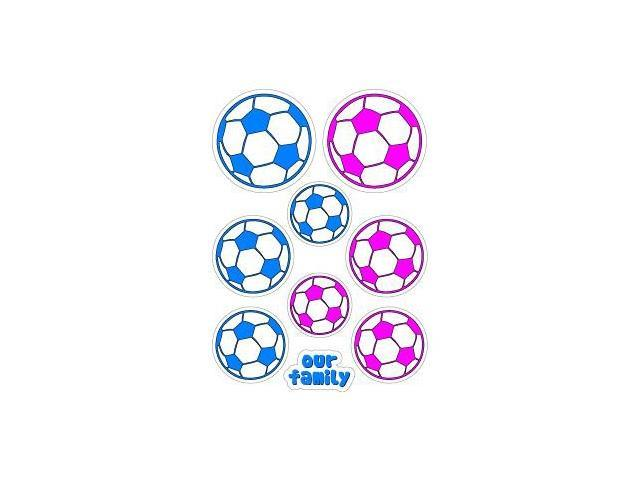 Soccer Family Stickers - 5.5