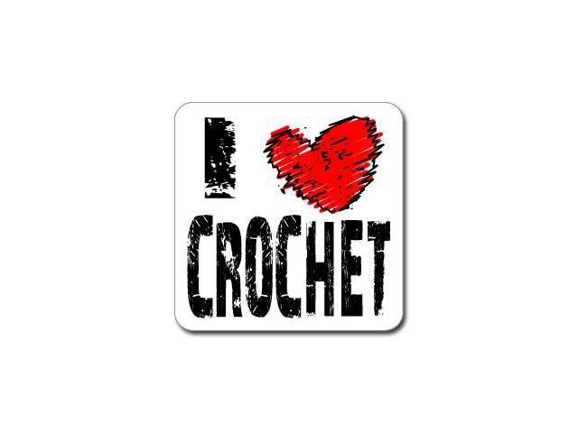 I Love Heart CROCHET Sticker - 5