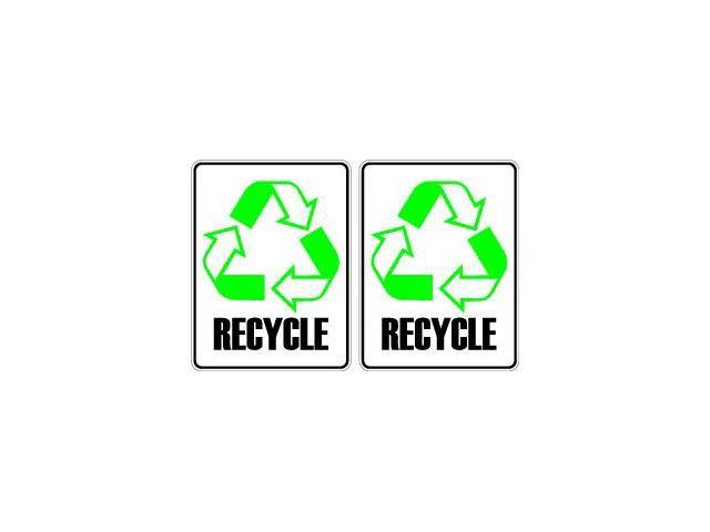 Recycle Sheet of 2 Stickers - 2.5