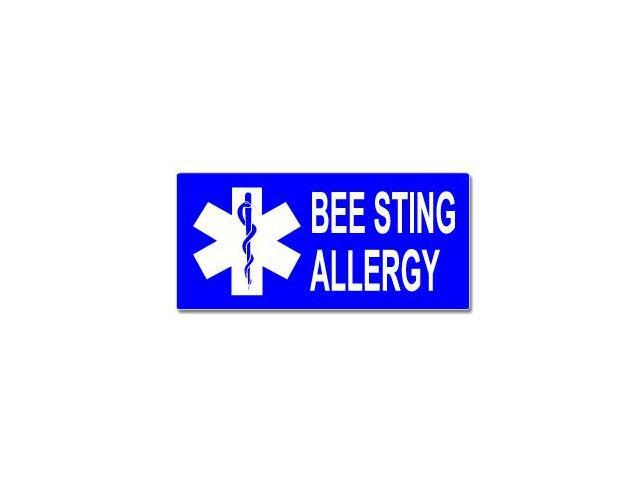 Bee Sting Allergy With Star Of Life Sticker - 7