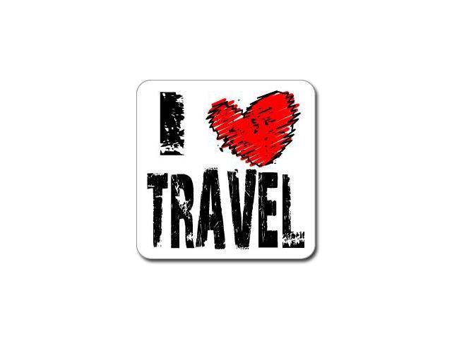 I Love Heart TRAVEL Sticker - 5