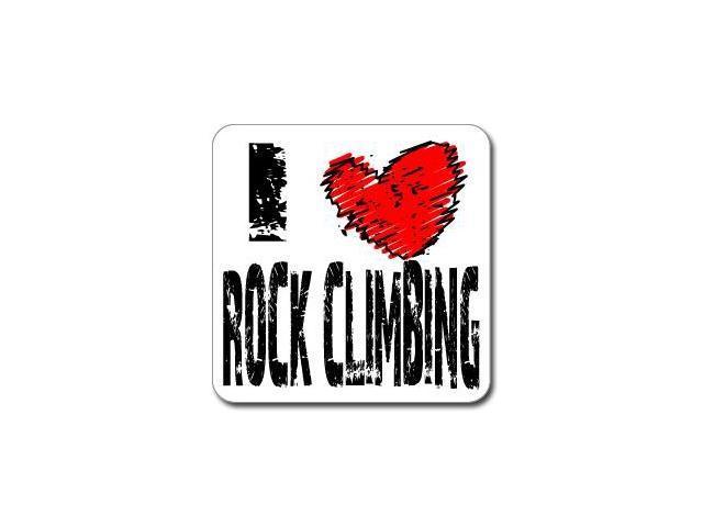 I Love Heart ROCK CLIMBING Sticker - 5