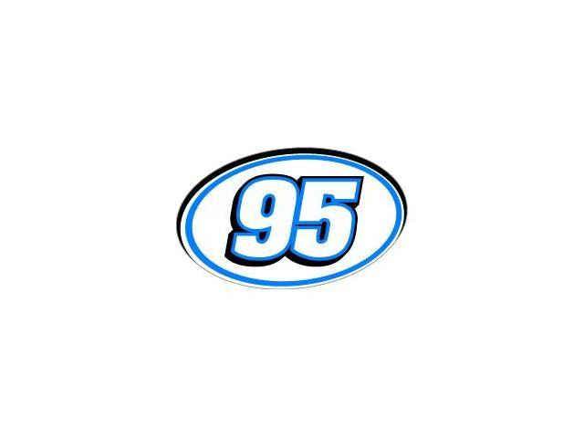 95 Number Racing - Blue Black Sticker - 5.5