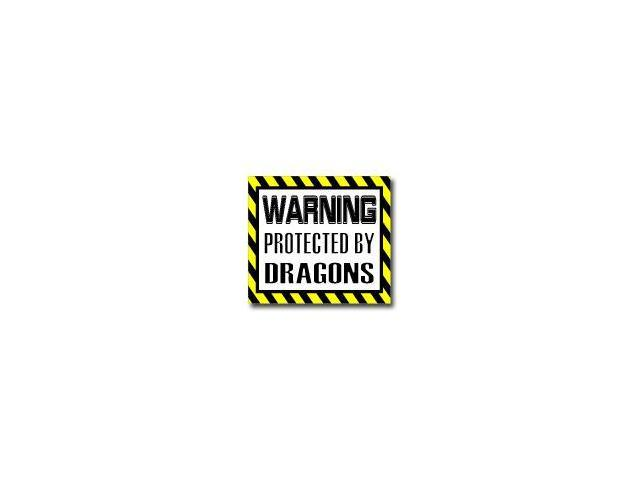 Warning Protected by DRAGONS Sticker - 5