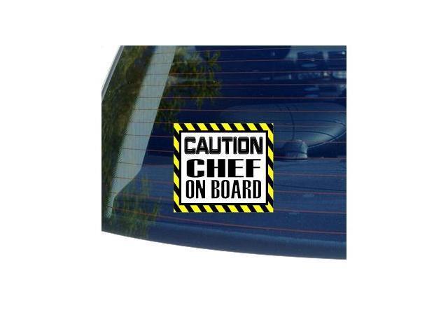Caution Chef on Board Sticker - 5