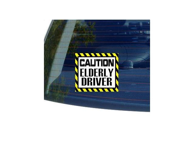 Caution Elderly Driver Sticker - 5