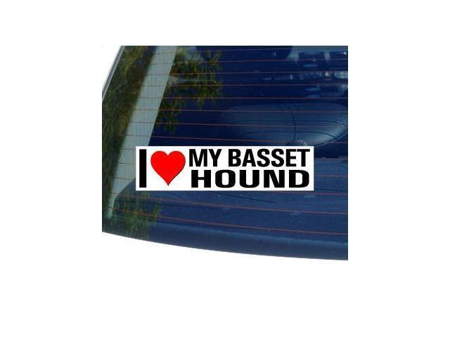 I Love Heart My BASSET HOUND Sticker - 8