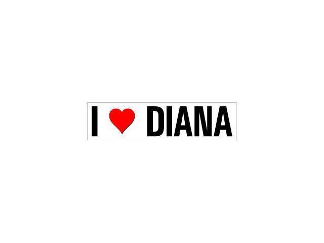 I Love Heart Diana Sticker - 8