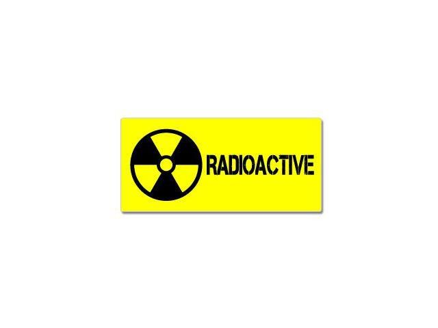 Radioactive - Nuclear Symbol Sticker - 7