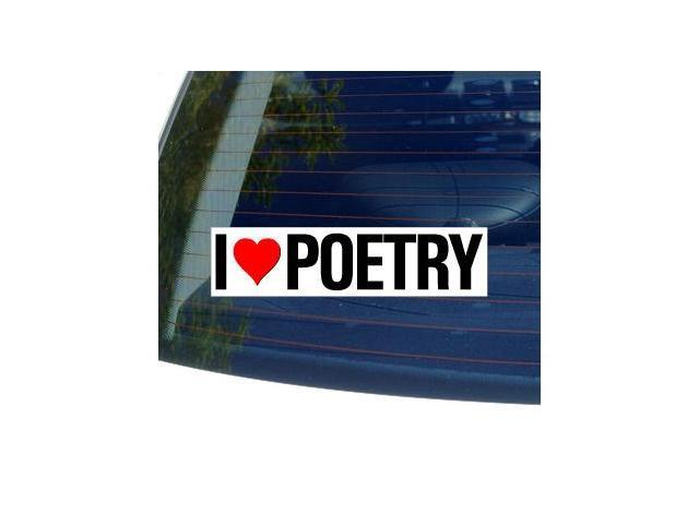 I Love Heart POETRY Sticker - 8