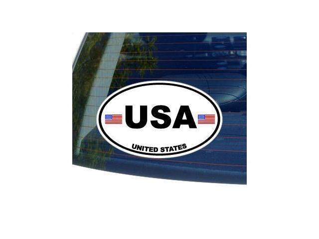 USA United States Country Oval Flag Sticker - 5.5
