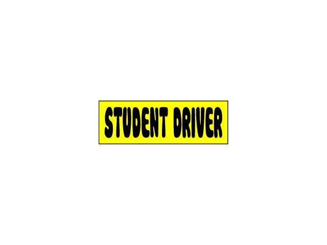 Student Driver Comic Sticker - 6