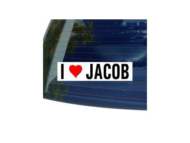 I Love Heart JACOB Sticker - 8