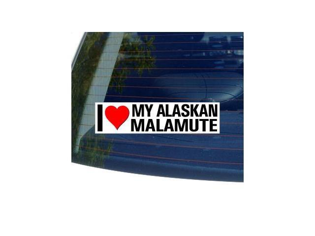 I Love Heart My ALASKAN MALAMUTE Sticker - 8