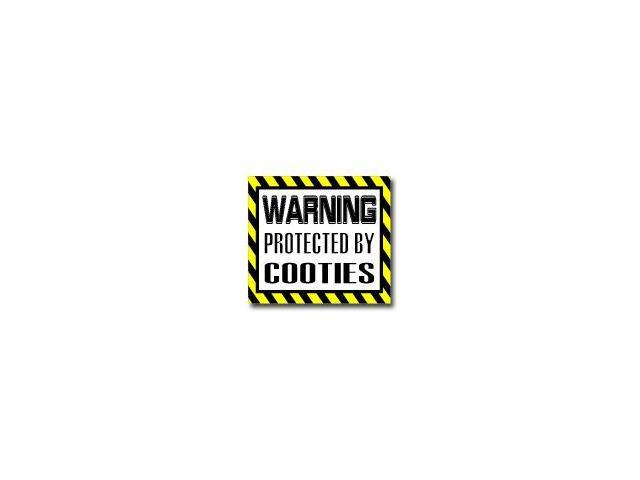 Warning Protected by COOTIES Sticker - 5