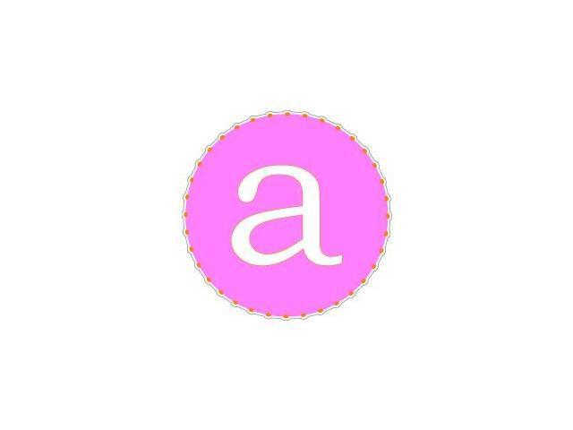 Letter Initial A - Pink Orange Sticker - 4.5
