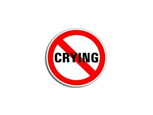 NO CRYING Sticker - 5