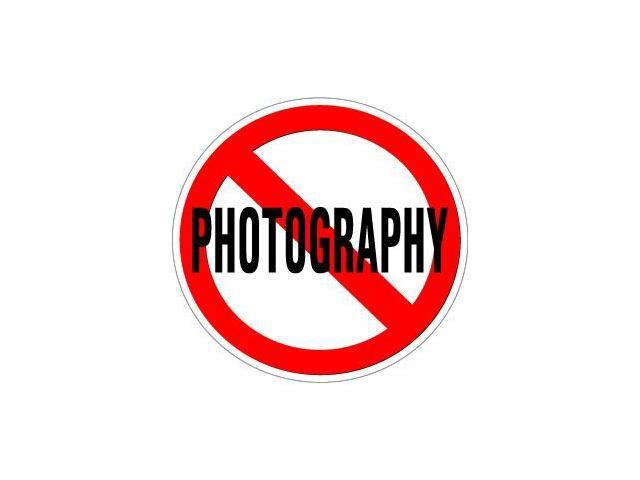 No Photography Sticker - 5