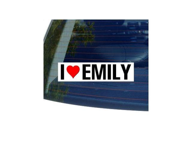 I Love Heart EMILY Sticker - 8