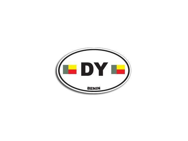 DY BENIN Country Oval Flag Sticker - 5.5