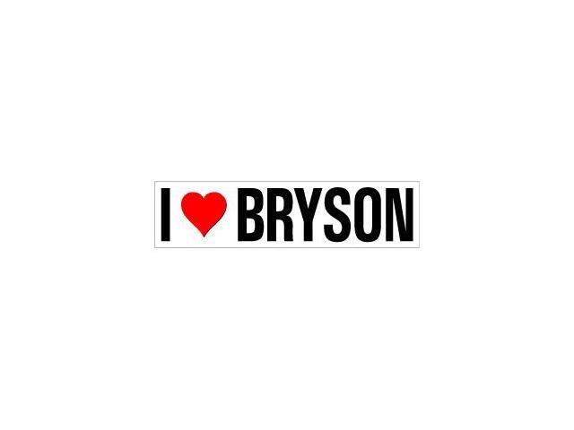 I Love Heart Bryson Sticker - 8