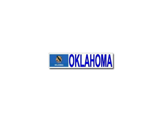 Oklahoma With State Flag Sticker - 8.5