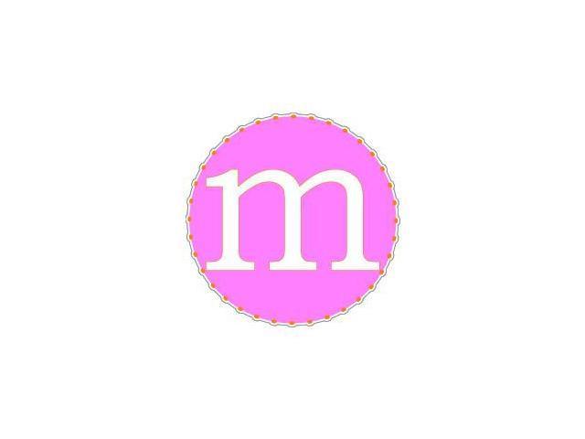 Letter Initial M - Pink Orange Sticker - 4.5