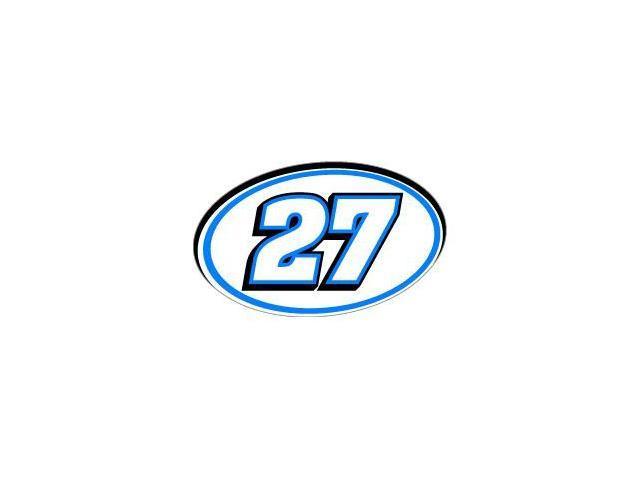 27 Number Racing - Blue Black Sticker - 5.5